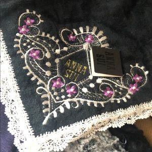 Anna Sui Handkerchief Vintage Black